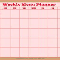 Printable Menus Planner - Printable Recipe Cards - Misc Printables