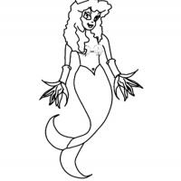 Printable Mermaid Princess - Printable Princess - Free Printable Coloring Pages