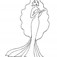 Printable Mermaid - Printable Princess - Free Printable Coloring Pages