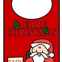 Printable Merry Christmas from Santa Door Hanger - Printable Fun - Free Printable Activities