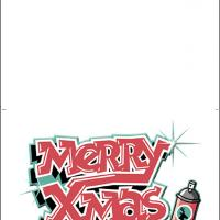 Printable Merry Christmas Paint - Printable Christmas Cards - Free Printable Cards