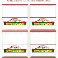 Printable Merry Christmas Place Cards - Printable Place Cards - Free Printable Cards