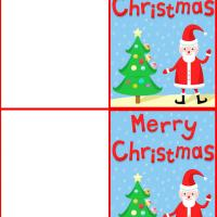 Printable Merry Christmas from Santa - Printable Gift Cards - Free Printable Cards