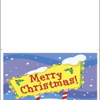 Printable Merry Christmas Sign - Printable Christmas Cards - Free Printable Cards