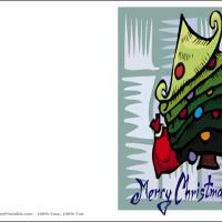 Printable Merry Christmas Tree - Printable Christmas Cards - Free Printable Cards