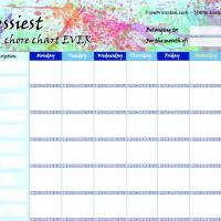 Printable Messy Chore Chart - Printable Chore Charts - Free Printable Activities