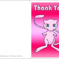 Printable Mew Thank You Card - Printable Thank You Cards - Free Printable Cards