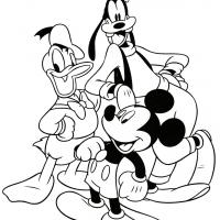 Printable Mickey and friends - Printable Disney - Free Printable Coloring Pages