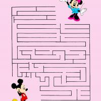 Printable Mickey And Minnie Mouse Maze - Printable Mazes - Free Printable Games
