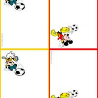Printable Mickey and Minnie Soccer - Printable Name Tags - Misc Printables