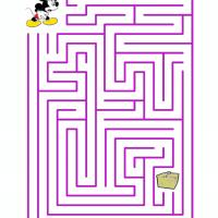 Printable Mickey Finding The Picnic Basket - Printable Mazes - Free Printable Games