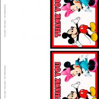 Printable Mickey Kiss Minnie - Printable Thank You Cards - Free Printable Cards