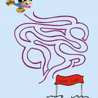 Mickey Racing To The Finish Line