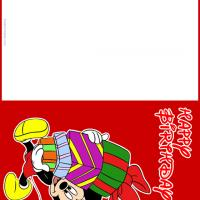 Printable Mickey with Gifts - Printable Birthday Cards - Free Printable Cards