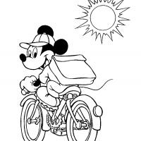 Printable Mickey's Ride - Printable Disney - Free Printable Coloring Pages