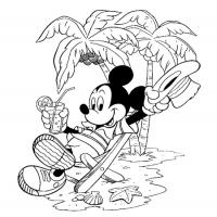 Printable Mickey's Vacation - Printable Disney - Free Printable Coloring Pages