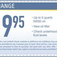 Midas Oil Change Promo
