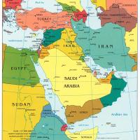 Printable Middle East Political Map - Printable Maps - Misc Printables