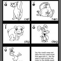 Printable Middle Short Vowel Review - Printable Kindergarten Worksheets and Lessons - Free Printable Worksheets