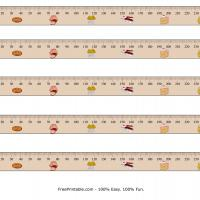Printable Millimeter Pastries Design Ruler - Printable Ruler - Free Printable Crafts