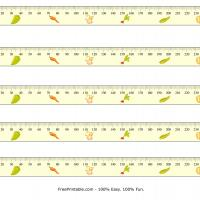 Printable Millimeter Veggetable Design Ruler - Printable Ruler - Free Printable Crafts
