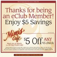 Mimi's Cafe Discount Coupon