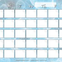 Mint Green Blank Monthly Calendar