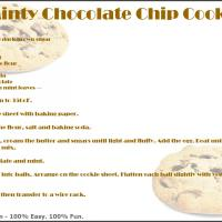 Printable Minty Chocolate Chip Cookies - Printable Recipes - Free Printable Activities