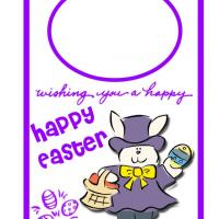 Printable Mister Bunny Easter Egg Hunt Door Hanger - Printable Fun - Free Printable Activities