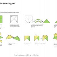 Printable Modular Star Origami - Paper Crafts - Free Printable Crafts