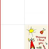 Mom & Child Sunny Day Mother's Day Card