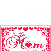 Mom Hearts & Butterflies Card