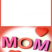 Mom Hearts Mother's Day Card