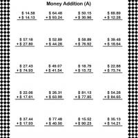 Printable Dollar Addition Worksheet - Printable Classroom Lessons - Free Printable Lessons