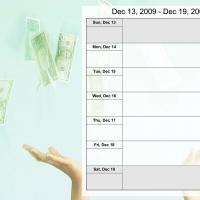 Money Theme Weekly Calendar Dec 13 to Dec 19 2009