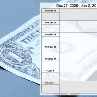 Money Theme Weekly Calendar Dec 27 to Jan 2 2010