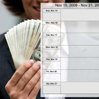 Money Theme Weekly Planner Nov 15 to Nov 21 2009