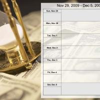Printable Money Theme Weekly Planner Nov 29 to Dec 5 2009 - Printable Weekly Calendar - Free Printable Calendars