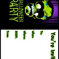 Monster Halloween Party Invitation