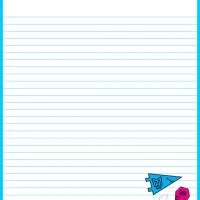 Printable Monster High Blue Stationery - Printable Stationary - Free Printable Activities
