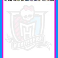 Monster High Characters Stationery