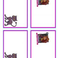 Printable Monster High Clawdeen Wolf and Crescent Name Tags - Printable Name Tags - Misc Printables