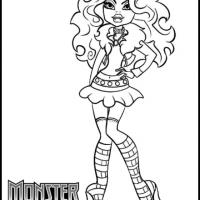 Monster High Clawdeen Wolf Coloring Sheet