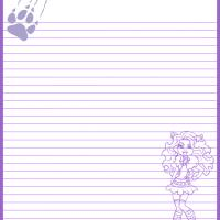Printable Monster High Clawdeen Wolf Paper - Printable Stationary - Free Printable Activities