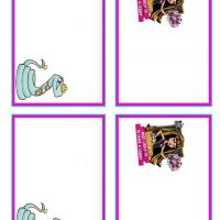 Printable Monster High Cleo de Nile and Hissette Name Tags - Printable Name Tags - Misc Printables