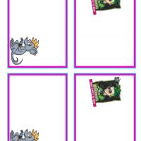 Monster High Deuce Gorgon and Perseus Name Tags
