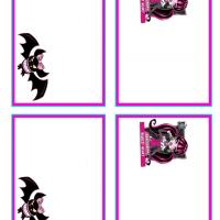 Printable Monster High Draculaura and Count Fabulous Name Tags - Printable Name Tags - Misc Printables
