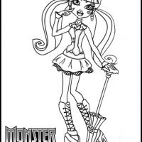 Monster High Draculaura Coloring Sheet