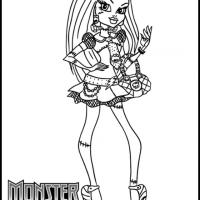 Monster High Frankie Stein Coloring Sheet