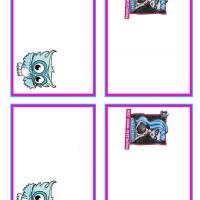 Monster High Ghoulia Yelps and Sir Hoots Name Tags